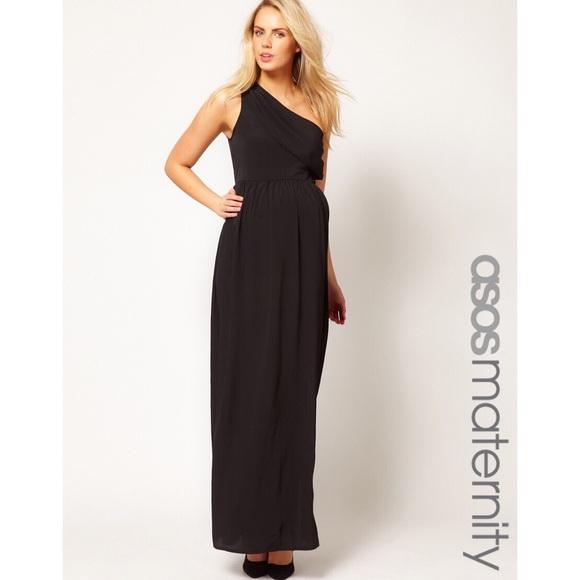 f3419b26c76 ASOS Maternity Dresses   Skirts - ASOS maternity black one shoulder maxi  dress